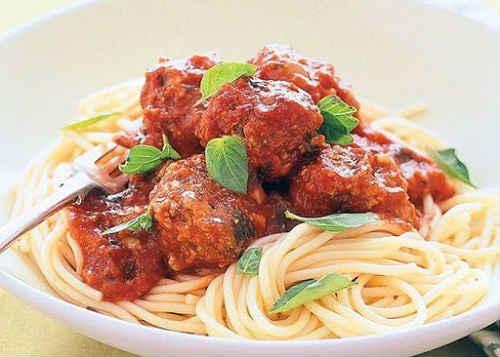 как приготовить спагетти с фрикадельками