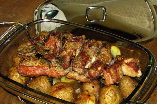 свиные ребрышки запеченные с картошкой