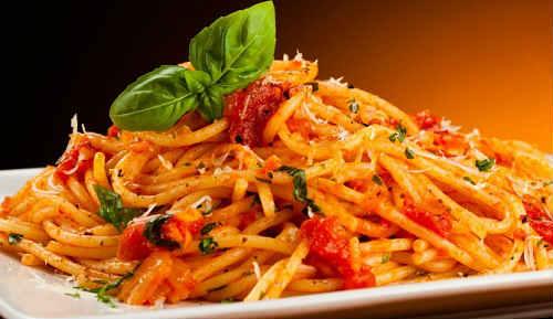 томатные спагетти