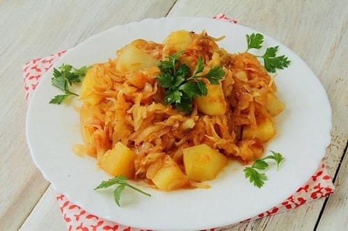 капуста с картошкой рецепты