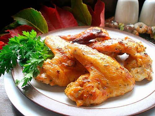 крылышки на сковороде