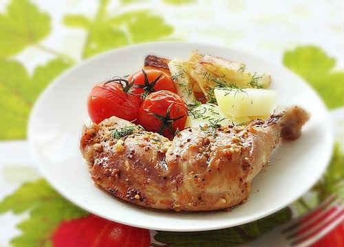 окорочка с овощами рецепт