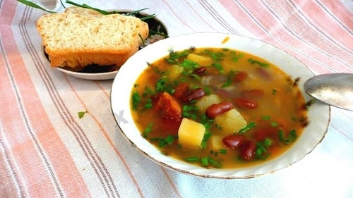 рецепт супа с фасолью и мясом
