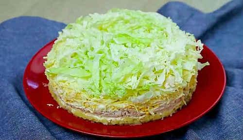 салат из пекинки с огурцом