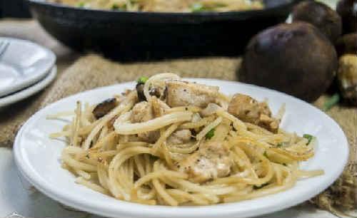 спагетти рецепт с грибами