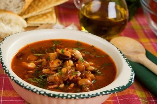 суп из красной фасоли с мясом
