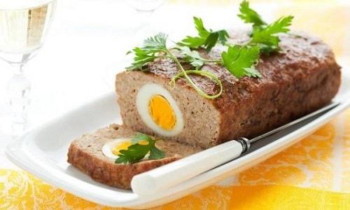 как приготовить мясной рецепт с яйцом