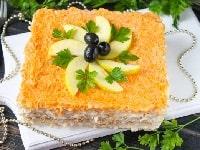 как приготовить селедочный торт на коржах
