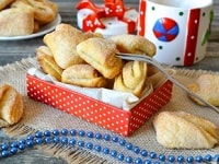 творожное печенье треугольники рецепт