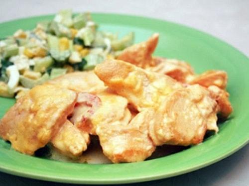 куриная грудка на сковороде со сметаной