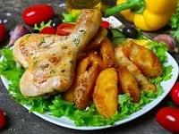 Куриные ножки с картошкой в духовке - самые вкусные рецепты