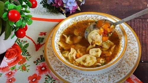 суп с пельменями и картошкой рецепт
