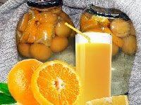 фанта на зиму из абрикосов и апельсинов