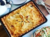 Пирог с мясом и картошкой в духовке - лучшие рецепты