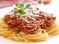 как приготовить спагетти с фаршем и томатом