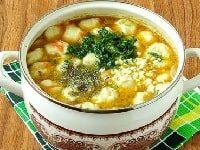 как варить суп с клецками на курином бульоне