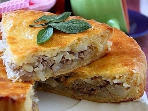 пирог с мясом и картошкой рецепт