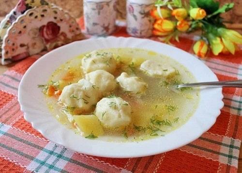 суп с клецками рецепты