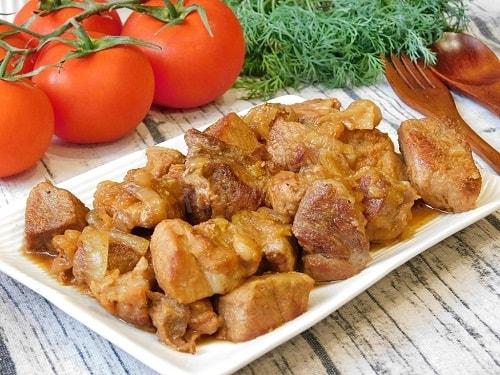 свинина жареная с луком рецепт
