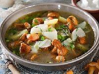как сварить суп с лисичками