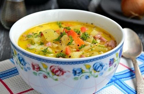 суп с плавлеными сырками рецепт