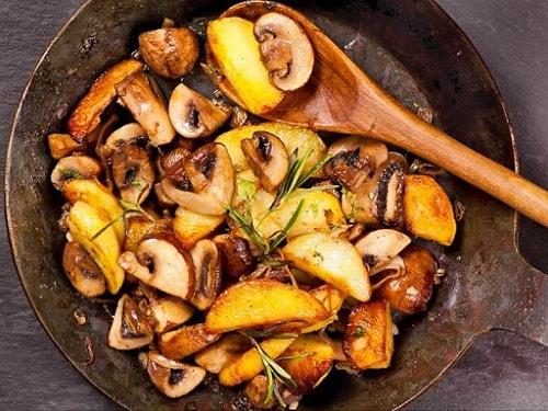 жареная картошка с грибами рецепты