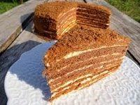 как испечь вкусный торт Медовик на сковороде