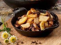 как пожарить картошку с белыми грибами