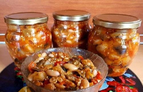 рецепты салата с фасолью на зиму