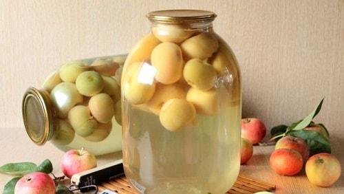 яблочный компот на зиму рецепты