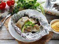 Минтай с овощами в духовке рецепты-min
