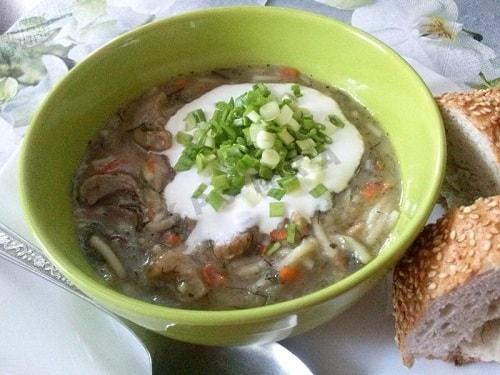 грибной суп из подосиновиков-min