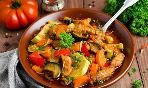 мясо с овощами рецепты-min