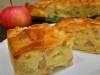 пирог с яблоками на заливном тесте