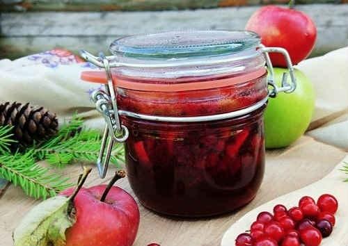 варенье из брусники с яблоками рецепт-min