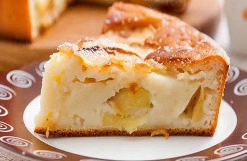 яблочный пирог на заливном тесте простой рецепт