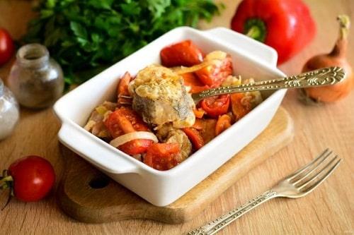 хек с овощами в духовке рецепты