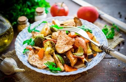 индейка с овощами рецепты-min