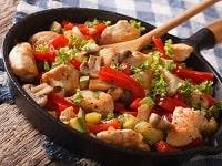 Индейка с овощами на сковороде - самые вкусные рецепты тушеной и жареной индейки