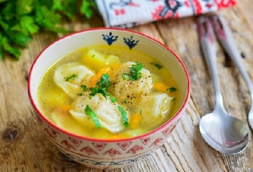 как приготовить суп с пельменями-min