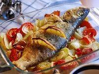как запечь сибас в духовке-min