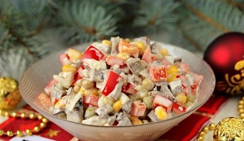 рецепты салатов из свиного сердца