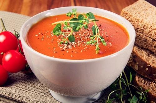 томатный суп из свежих помидоров