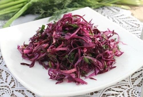 Салат из краснокочанной капусты рецепт