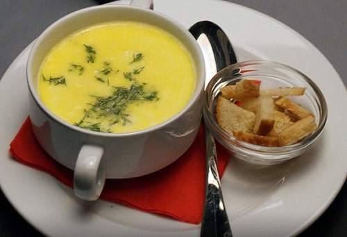 французский сырный суп с курицей