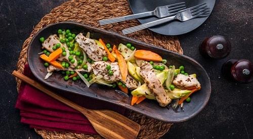 индейка запеченная с овощами в духовке