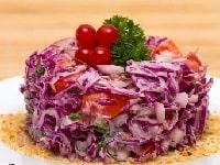 как готовить вкусный салат из краснокочанной капусты