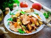 как запечь в духовке индейку с овощами