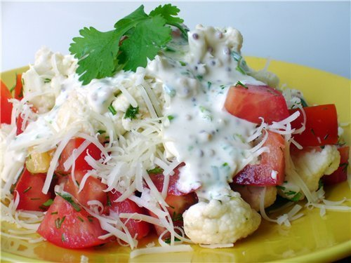 салат из цветной капусты рецепты