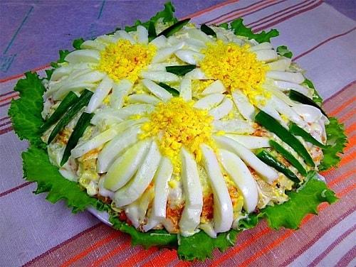 салаты из консервированной горбуши
